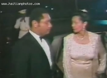 Jean-Claude Duvalier And Simone Ovide Duvalier In Wedding