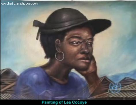 Painting of Lea Kokoye - Maurice Sixto
