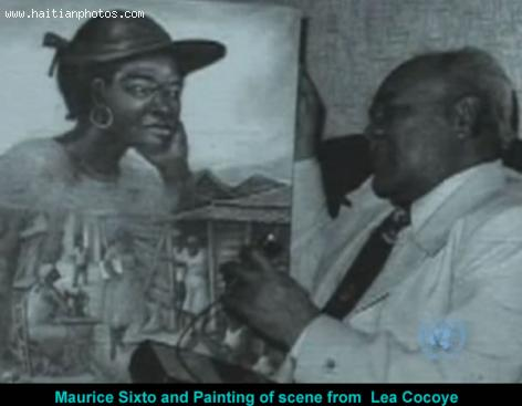 Picture of Maurice Sixto and Le Kokoye Painting