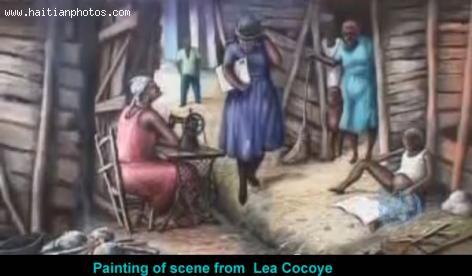 Maurice Sixto, Painting of Lea Kokoye