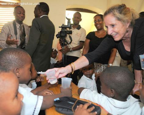 Pamela Ann White in Haiti