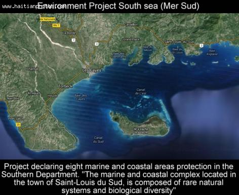Environment Project South sea, Mer Sud