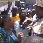 Former Presidential candidate Mirlande Manigat recipient of tear gas