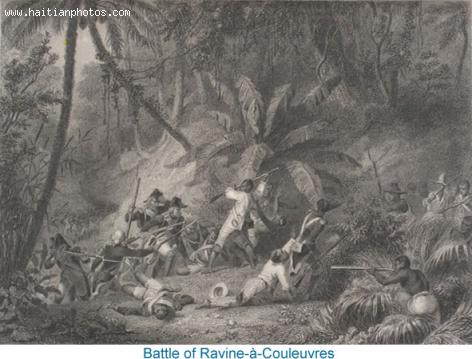 Battle at ravine a Couleuvre deters French Invasion of Gonaives