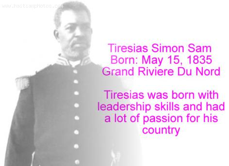 Tiresias Simon Sam born Grand Riviere du Nord