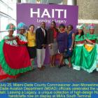 Jean Monestime celebrated the unveiling of Haiti: Leaving a Legacy