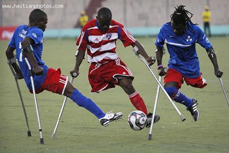 Disabled Soccer Player in Haiti