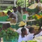View of Marketplace in Kenskoff, Haiti