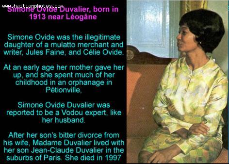 Simone Ovide Duvalier, born in 1913 near Leogane