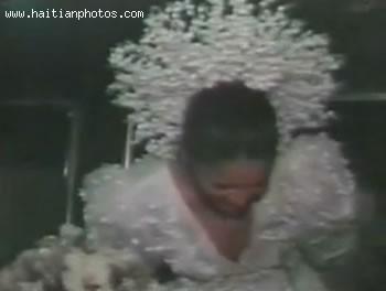 Michele Bennett During Her Wedding