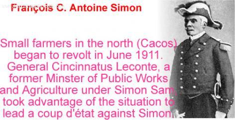 Francois C. Antoine Simon, President of Haiti