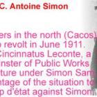 François C. Antoine Simon, President of Haiti