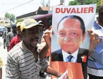 Haitian Protest For Jean-Claude Duvalier To Return