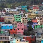 Pink green blue red Jalousie