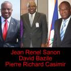 Jean Renel Sanon, David Bazile and Pierre Richard Casimir
