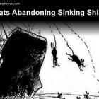 Rats Abandoning Sinking Ship