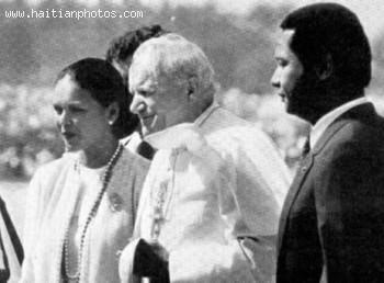 Jean-Claude Duvalier, Pope John Paul II, Michele Bennett