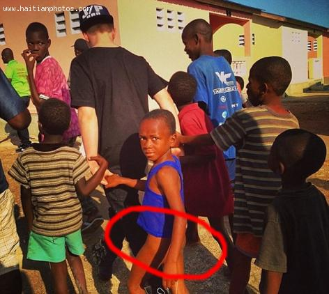Rocco, Madonna's son in Haiti for Charity work