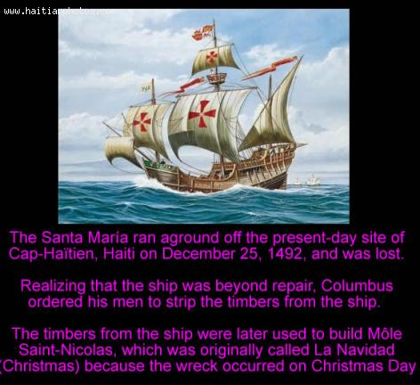 Santa maria and of Mole Saint-Nicolas