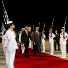 Arrival of Michel Martelly in Venezuela