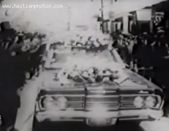 Francois Duvalier Visiting The Haitian Capital