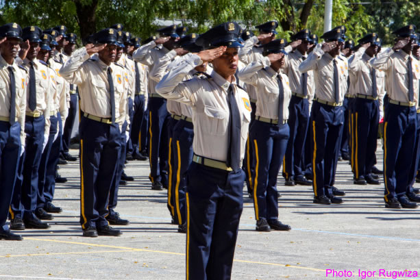 The 24th promotion of Haiti National Police