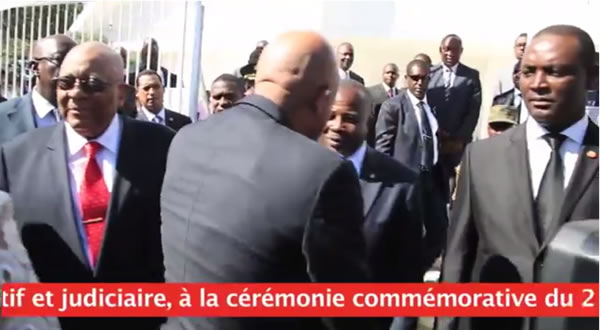 Michel Martelly Celebrating 2010 Anniversary Haiti Independence