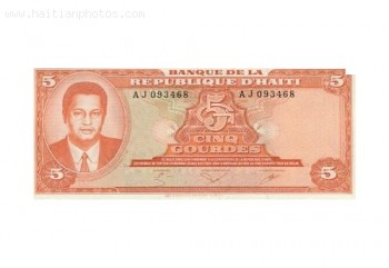 Jean-Claude Duvalier In Haitan Currency