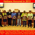 Haitians Honored for commitment and consistency in 2013