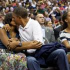 Love between Barack and Michelle Obama