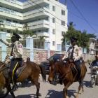 Haitian Police Horse back riding
