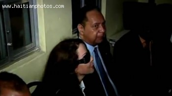 Jean-Claude Duvalier With Companion Veronique Roy