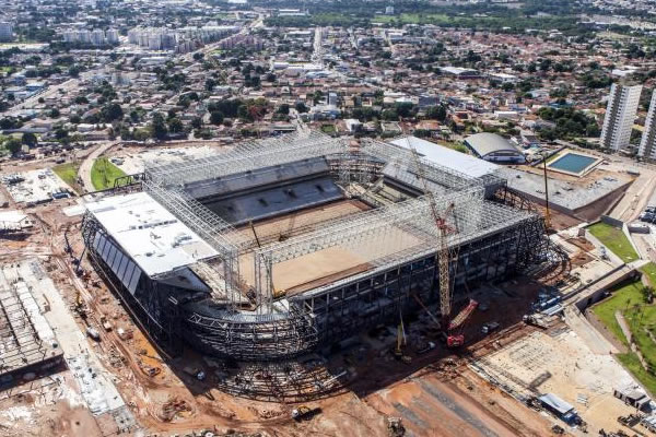 Haitian building of World Cup stadium in Brazil