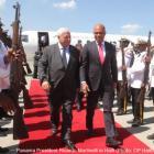 Panama President Ricardo Martinelli in Haiti