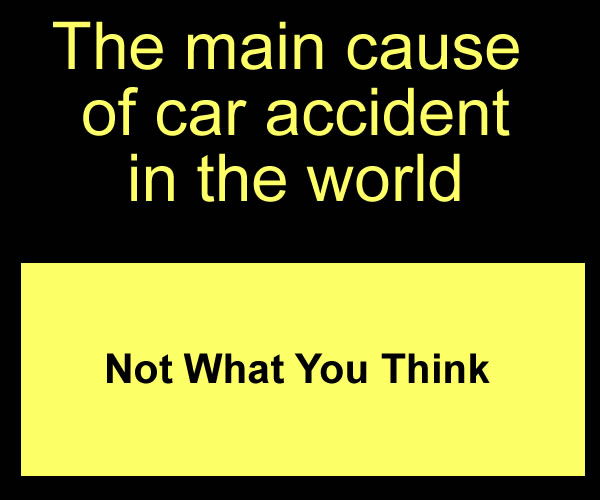 Main cause of Car accident
