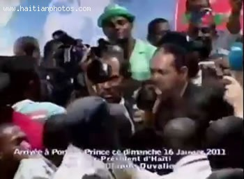 Jean-Claude Duvalier Arrival In Haiti
