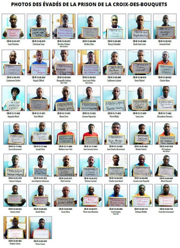 List of escapees from Prison of Croix-des-Bouquets
