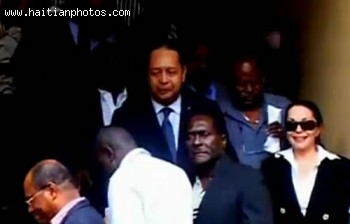 Jean-Claude Duvalier On His Way For Interrogation In Haiti