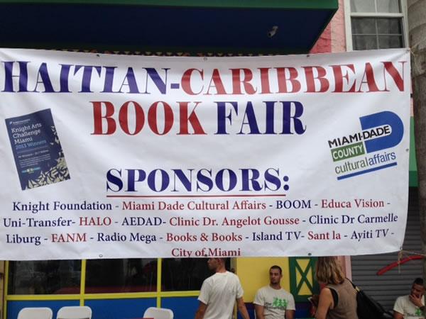 book fair in Miami's Little Haiti neighborhood