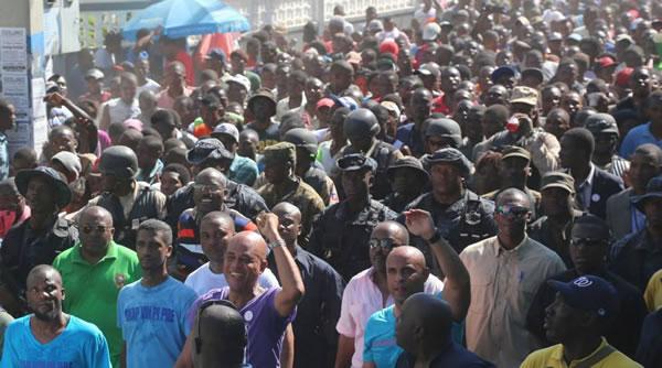 L'entree triomphale de Michel Martelly au Cap-Haitien