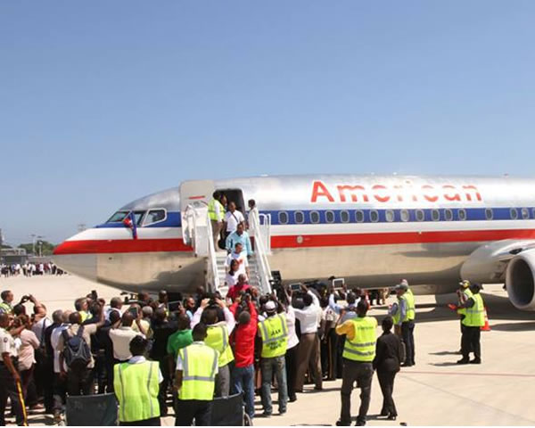 American Airlines First Flight to Cap-Haitian