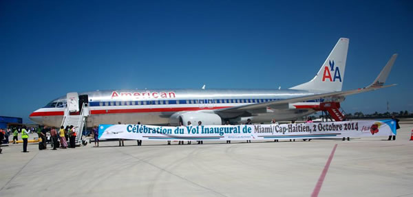 American Airlines First Flight to Cap-Haitian, September 2, 2014
