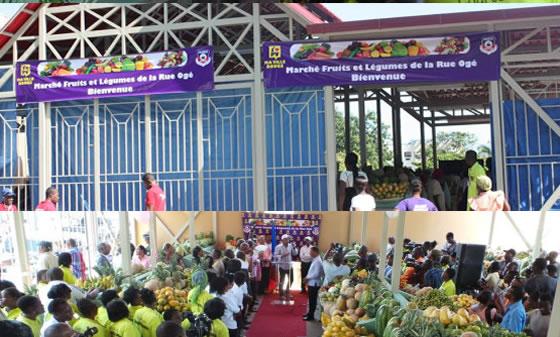 Fruit and vegetable market, Rue Oge in Petionville
