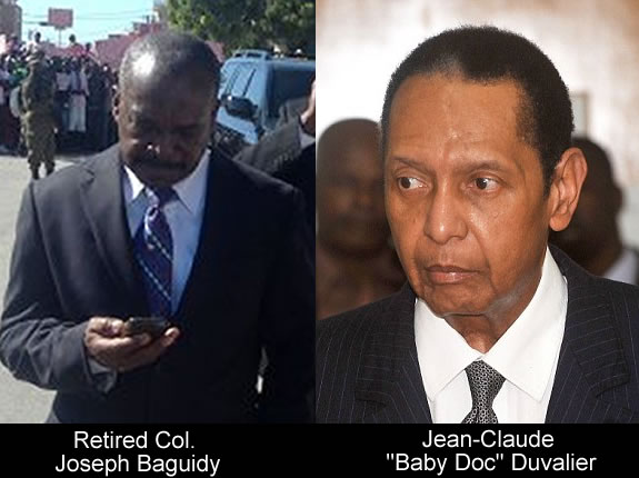 Retired Col. Joseph Baguidy and Jean-Claude Duvalier, Baby Doc