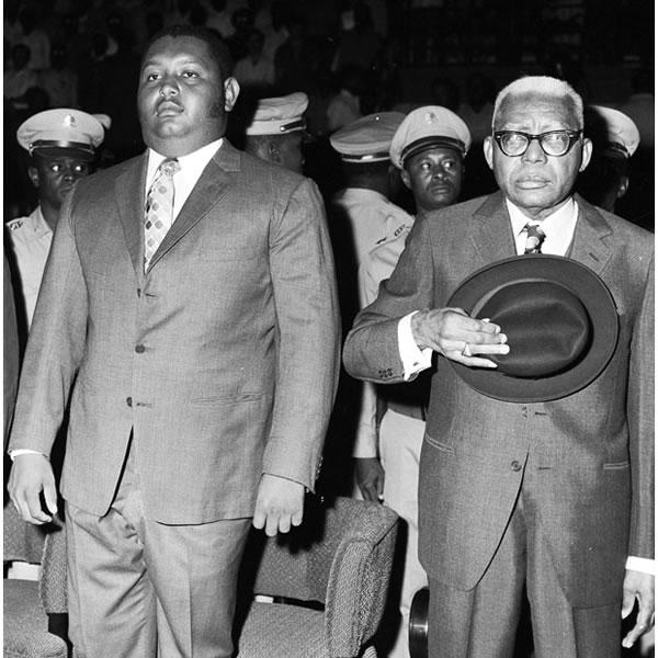 Jean Claude Duvalier and Francois Duvalier