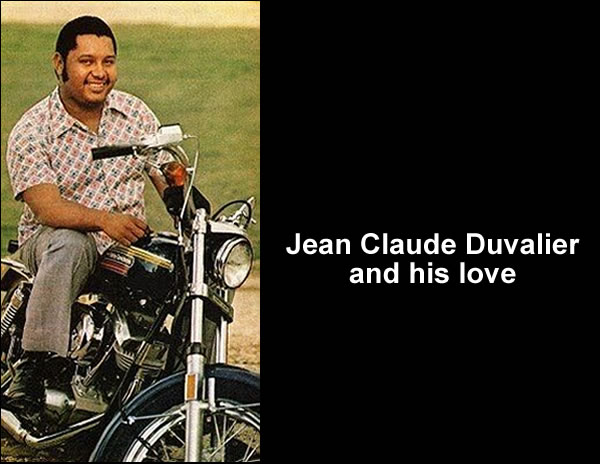 Jean Claude Duvalier love for fast car, Motorcycle and Speed Boat