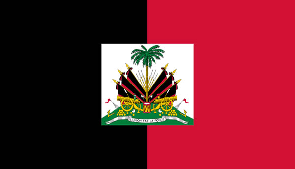 Haitian Flag Under Francois Duvalier changed in 1964 to black and red