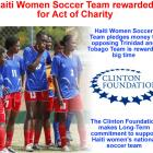 Haiti Women Soccer Team pledges