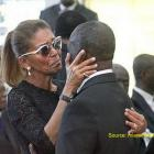 Michele Bennett at the Funeral of Jean Claude Duvalier