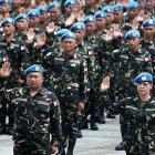 Filipino Peacekeeping Contingent from Haiti with MINUSTAH